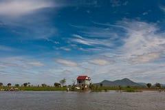 cambodia domowy jeziora krajobrazu aproszy stilt tonle Obrazy Royalty Free