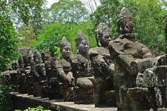 Cambodia the doors of Angkor Thom royalty free stock photos