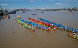 Cambodia Dragon Boat Racing Royalty Free Stock Images