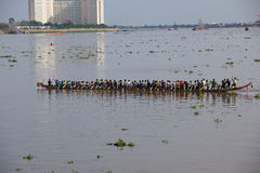 Cambodia Dragon Boat Racing Royalty Free Stock Images