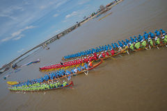 Cambodia Dragon Boat Racing Stock Photo