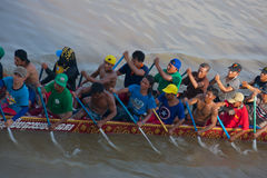 Cambodia Dragon Boat Racing Royalty Free Stock Photography