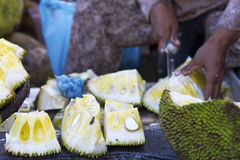Cambodia Durian at market Stock Photos