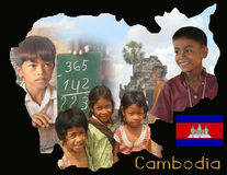 Cambodia Educational Poster Royalty Free Stock Image