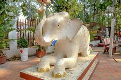 Cambodia elephant statue in siem reap city stock image