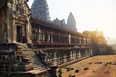 Cambodia Famous Landmark. Angkor Wat Temple. Tourist Attraction, Stock Images