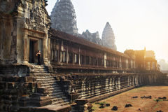 Cambodia Famous Landmark. Angkor Wat Temple. Tourist Attraction, Stock Image