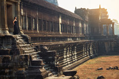 Cambodia Famous Landmark. Angkor Wat Temple. Tourist Attraction, Royalty Free Stock Image