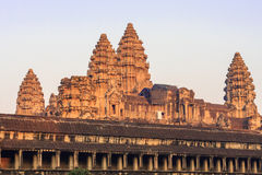 Angkor Wat temple in the morning. World Largest Religious Monument, Prasat Angkor Nokor Wat Temple Complex, Siem Reap. Cambodia Famous Landmark. World Largest Stock Images