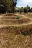 cambodia fields gravar som dödar mass Arkivbilder