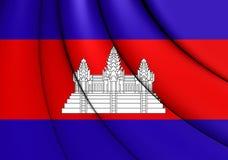 cambodia flagę Obrazy Stock