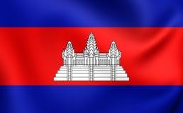 cambodia flagę Obraz Stock