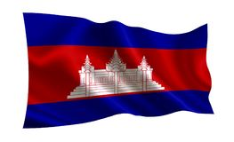 Cambodia flag. A series of `Flags of the world.`    The country - Cambodia flag. Cambodia flag. A series of `Flags of the world.`   The country - Cambodia flag Royalty Free Stock Images
