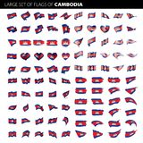 Cambodia flag, vector illustration Stock Photography