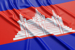Cambodia flag Stock Image