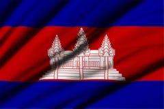 cambodia flagga Royaltyfria Foton