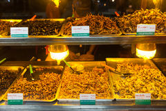 Cambodia food , Fried insects, Bugs fried on Street food Royalty Free Stock Image