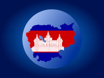 Cambodia globe Stock Photography