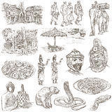 Cambodia - An hand drawn illustrations. Frehand pack. Stock Images
