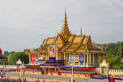Cambodia Independence Day Royal Palace Silver Pagoda Royalty Free Stock Photos