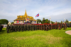 Cambodia Independence Day Royal Palace Silver Pagoda Royalty Free Stock Image