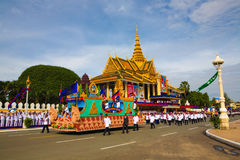Cambodia Independence Day Royal Palace Silver Pagoda Stock Images