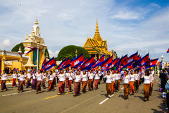 Cambodia Independence Day Royal Palace Silver Pagoda Stock Photography