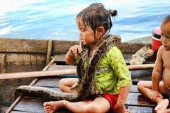 cambodia jeziorny aproszy tonle Obraz Royalty Free