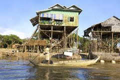 cambodia mieści stilt Fotografia Royalty Free
