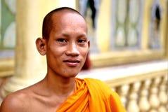 cambodia monk Royaltyfri Bild