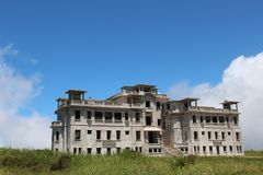 cambodia Palazzo abbandonato di Bokor dell'hotel Montagna Bokor Città di Kampot Provincia di Kampot Fotografia Stock Libera da Diritti