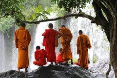 cambodia Phnom Kulen Cachoeira Cidade de Siem Reap Província de Siem Reap imagem de stock