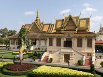 Cambodia_Phnom_Penh_Palace 免版税库存照片