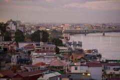 CAMBODIA PHNOM PENH TONLE SAP RIVER CITY Royalty Free Stock Photo