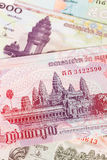 Cambodia riel money banknote Royalty Free Stock Photos