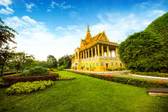 Cambodia Royal Palace khmer king place. Cambodia royal palace inside view Stock Image
