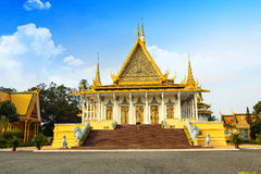 Cambodia Royal Palace khmer king place. Cambodia royal palace inside view Stock Photo