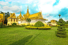 Cambodia Royal Palace khmer king place king norodom sihankmony Royalty Free Stock Photo