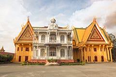 Cambodia Royal Palace khmer king place king norodom sihankmony silver pagoda. Cambodia royal palace inside view.nking norodom sihankmony Royalty Free Stock Image