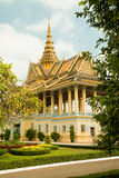 Cambodia Royal Palace, Moonlight Pavilion. From gardens Stock Photography