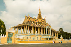 Cambodia Royal Palace, Moonlight Pavilion. From street Royalty Free Stock Photo