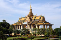 Cambodia Royal Palace. Royal Palace of Cambodia in Phnom Penh Royalty Free Stock Images