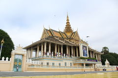 Cambodia Royal Palace. In Phnom Penh Royalty Free Stock Photo