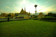 Cambodia royal palace phnom penh.  Stock Photo