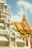 Cambodia Royal Palace, Silver Pagoda and stupa. Portrait Royalty Free Stock Photo