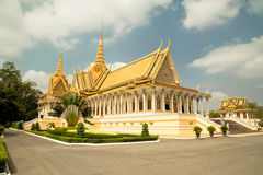 Cambodia Royal Palace, The Throne Hall. Cambodia Royal Palace, Moonlight Pavilion Stock Images