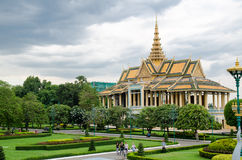 Cambodia Royal Palace 5. Viewing of Cambodia Royal Palace from outside Stock Photo