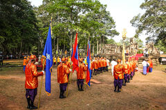 Cambodia The Royal Ploughing Ceremony siem reap angkor bayon presh vihear. The Royal Ploughing Ceremony is one of the mostnimportant annual royal traditional Royalty Free Stock Photos