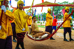 Cambodia The Royal Ploughing Ceremony siem reap angkor bayon presh vihear. The Royal Ploughing Ceremony is one of the mostnimportant annual royal traditional Stock Image