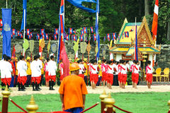 Cambodia The Royal Ploughing Ceremony siem reap angkor bayon presh vihear. The Royal Ploughing Ceremony is one of the mostnimportant annual royal traditional Royalty Free Stock Image